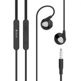 Casti Stereo 3.5 mm Devia D2 Ripple Negru  (handsfree - telecomanda, microfon)