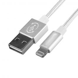 Cablu MFI Lightning 4smarts Rapidcord White (USB reversibil, 1m)