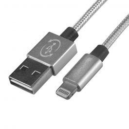 Cablu MFI Lightning 4smarts Rapidcord Silver (USB reversibil, 1m)