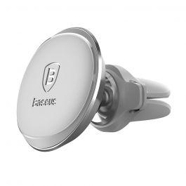 Suport Baseus Auto Magnetic Air Vent Silver (rotatie 360°, cable clip, prindere la sistemul de venti
