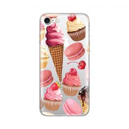 Husa iPhone 8 / 7 Lemontti Silicon Art Cookies