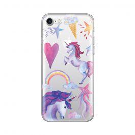 Husa iPhone 8 / 7 Lemontti Silicon Art Unicorn