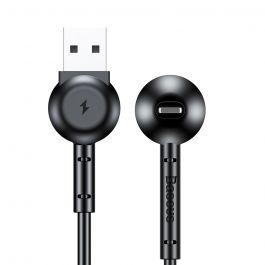 Cablu Lightning Baseus Maruko Video Black (1m, 2.1A, cu functie de suport)