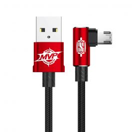 Cablu MicroUSB Baseus MVP Elbow USB Red (2m, output 1.5A, unghi 90°, impletitura nylon)