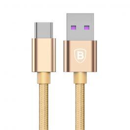 Cablu Type-C Baseus Speed QC USB Gold (1m, output 5A, impletitura textila)