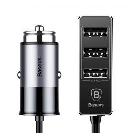 Incarcator Auto Baseus Enjoy Together 5.5A Quad USB Dark Gray (3xUSB max 3.1A, 1xUSB max 2.4A)