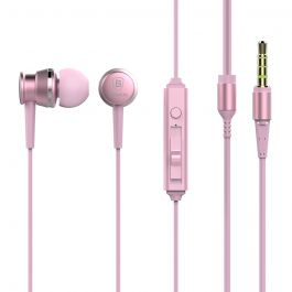 Casti Jack 3.5mm Baseus Lark Sakura Pink (in-ear)