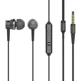 Casti Jack 3.5mm Baseus Lark Sky Gray (in-ear)