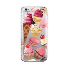 Husa iPhone 6/6S Lemontti Silicon Art Cookies