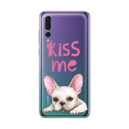 Husa Huawei P20 Pro Lemontti Silicon Art Pug Kiss