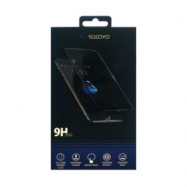 Folie iPhone XS Max Meleovo Sticla Defense Black (2.5D, 9H, oleophobic)