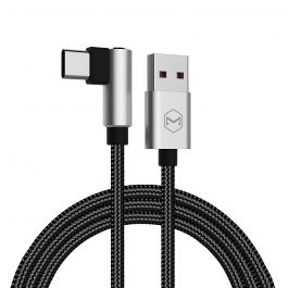 Cablu Type-C Mcdodo Glory Series Silver (5A, unghi 90°, 1m)