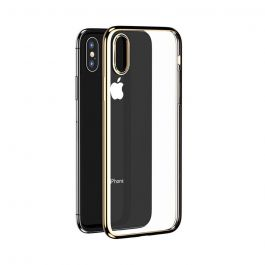 Husa iPhone XS / X Benks Silicon Magic Glitz Transparent - Auriu