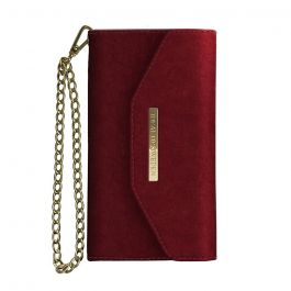 Husa iPhone X / XS iDeal of Sweden Mayfair Clutch Velvet Red