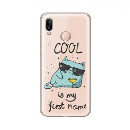 Husa Huawei P20 Lite Lemontti Silicon Art Cool is my first name