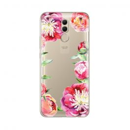 Husa Huawei Mate 20 Lite Lemontti Silicon Art Flowers