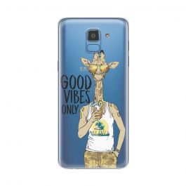 Husa Samsung Galaxy J6 (2018) Lemontti Silicon Art Good Vibes