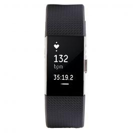 Fitbit Bratara Fitness Charge 2 Black Silver Marimea L