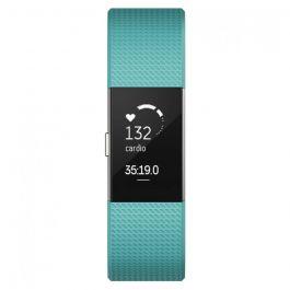 Fitbit Bratara Fitness Charge 2 Teal Silver Marimea L