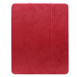 Husa iPad Pro 12.9 inch 2018 Comma Leather Case Red (pencil slot)