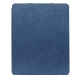 Husa iPad Pro 12.9 inch 2018 Comma Leather Case Blue (pencil slot)