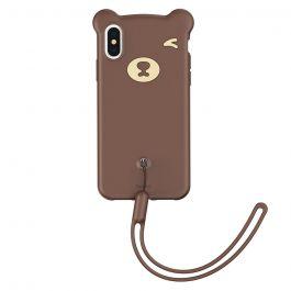Husa iPhone XS Max Baseus Silicon Bear Brown