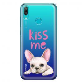 Husa Huawei Y7 2019 Lemontti Silicon Art Pug Kiss