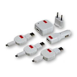 Set incarcare MicroUSB Swiss Charger Micro Pack retea+auto+cablu