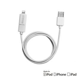 Cablu iPhone 6 Lightning si MicroUSB Comma Light 2 in 1 MFI Alb (sincronizare si incarcare )