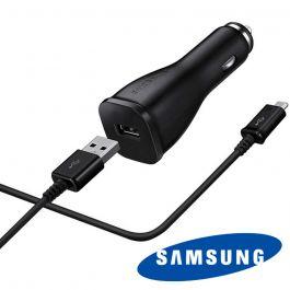 Incarcator auto USB Samsung 2A cu incarcare rapida Negru (cablu MicroUSB inclus)