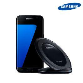 Stand incarcare Samsung Galaxy S7 / S7 Edge QI Wireless Negru (AFC - incarcare rapida)
