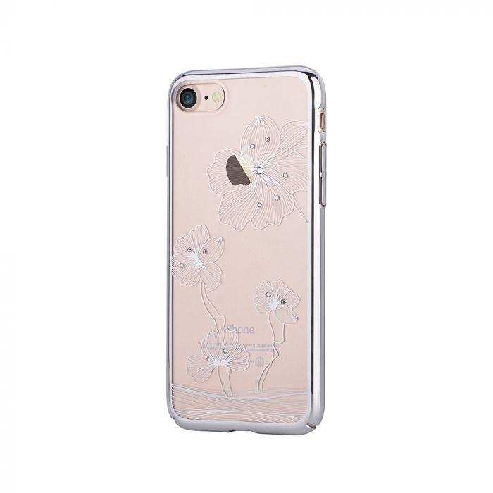 Carcasa iPhone SE 2020 / 8 / 7 Comma Crystal Flora 360 Silver (Cristale Swarovski�, electroplacat, p