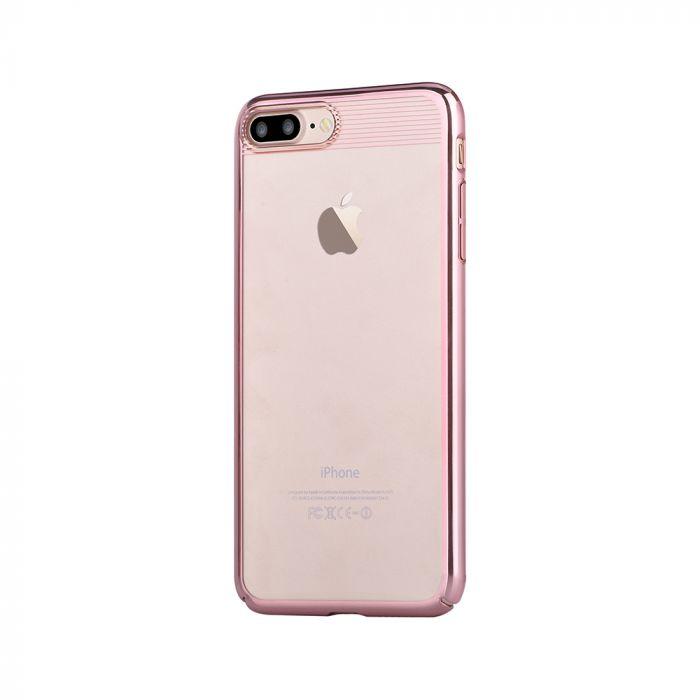 Carcasa iPhone 8 Plus / 7 Plus Comma Brightness Rose Gold (electroplacat, protectie 360�)