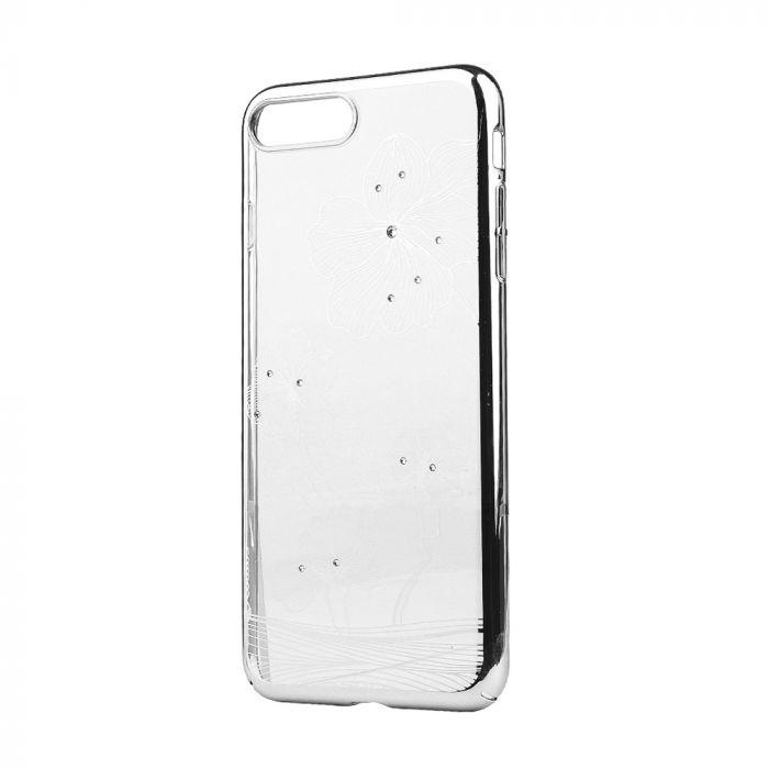 Carcasa iPhone 8 Plus / 7 Plus Comma Crystal Flora 360 Silver (Cristale Swarovski�, electroplacat, p