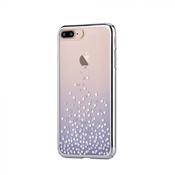 Carcasa iPhone 8 Plus / 7 Plus Comma Unique Polka Blue (Cristale Swarovski�, electroplacat, protecti