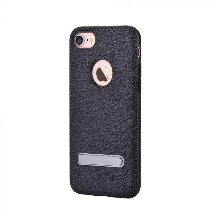 Carcasa iPhone 7 Devia iStand Black (cu stand aluminiu)