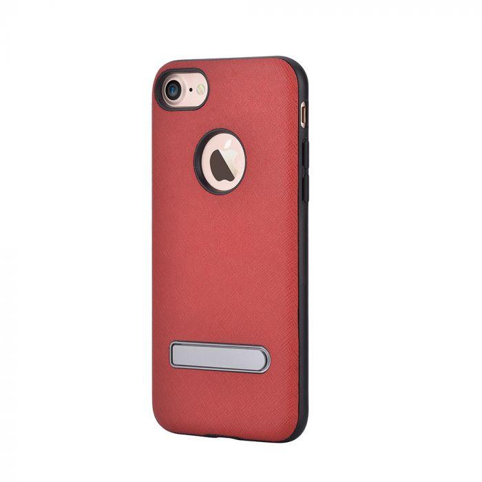 Carcasa iPhone 7 Devia iStand Red (cu stand aluminiu)