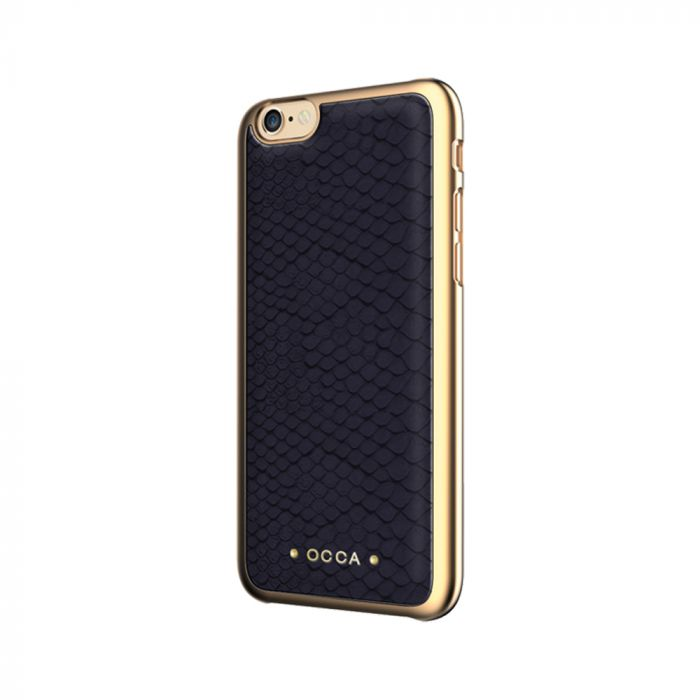 Carcasa iPhone 7 Occa Wild Black (piele naturala)