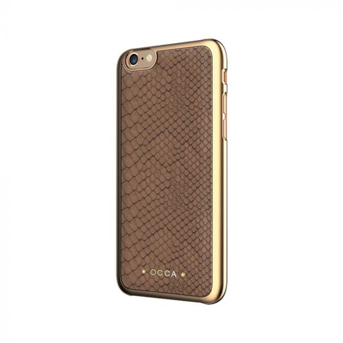Carcasa iPhone 7 Occa Wild Khaki (piele naturala)