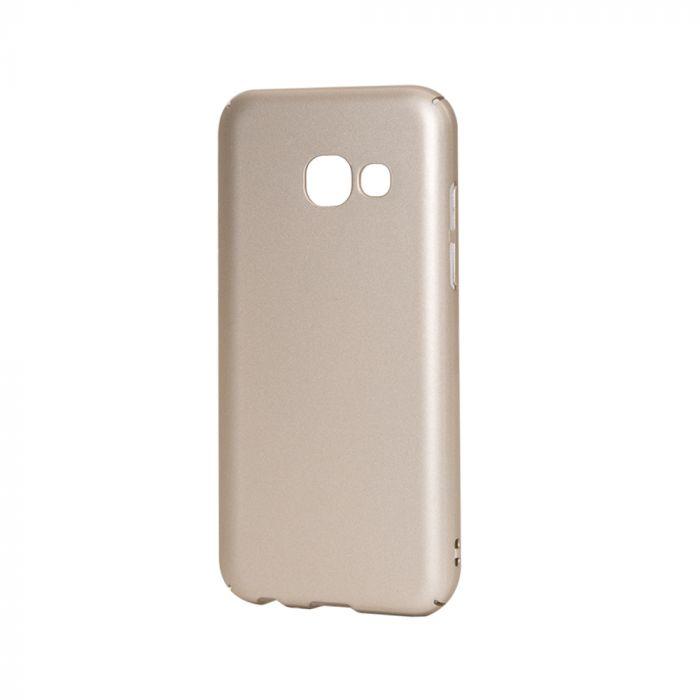 Carcasa Samsung Galaxy A3 (2017) Lemontti Hard Rubber Slim Auriu
