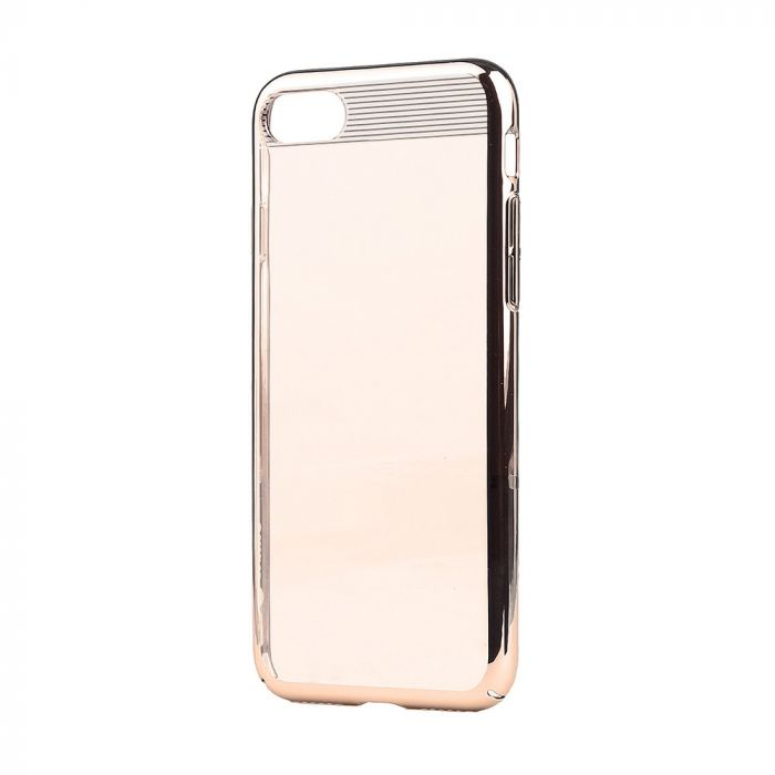 Carcasa iPhone SE 2 / 8 / 7 Comma Brightness Champagne Gold (electroplacat, protectie 360�)