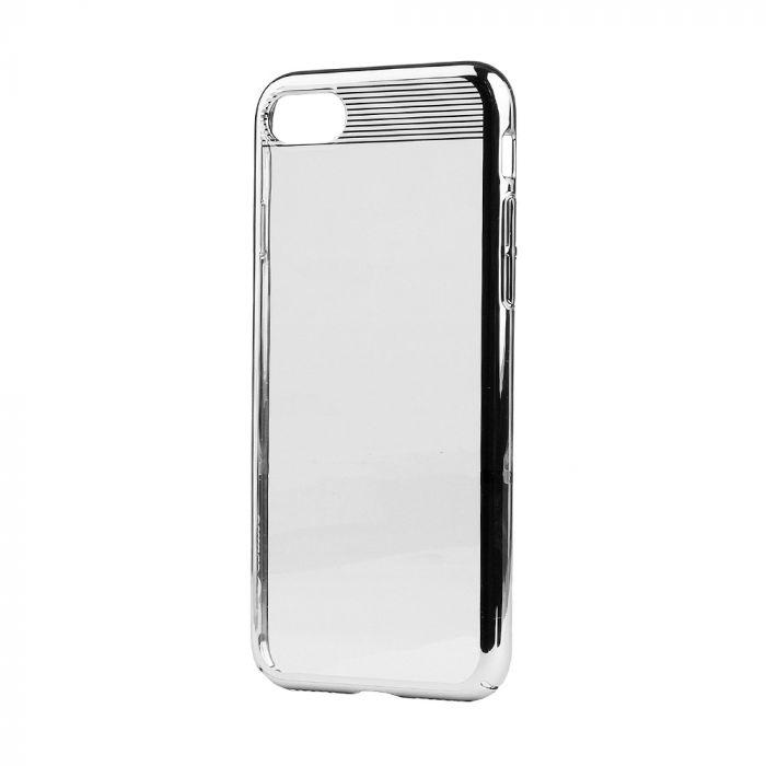 Carcasa iPhone SE 2020 / 8 / 7 Comma Brightness Silver (electroplacat, protectie 360�)