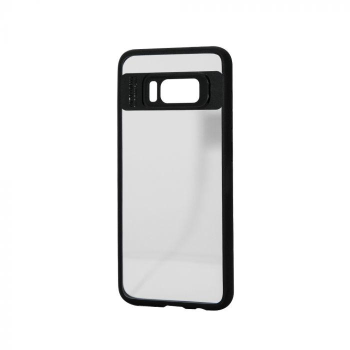 Carcasa Samsung Galaxy S8 Just Must Pure III transparent cu margini cauciucate negre