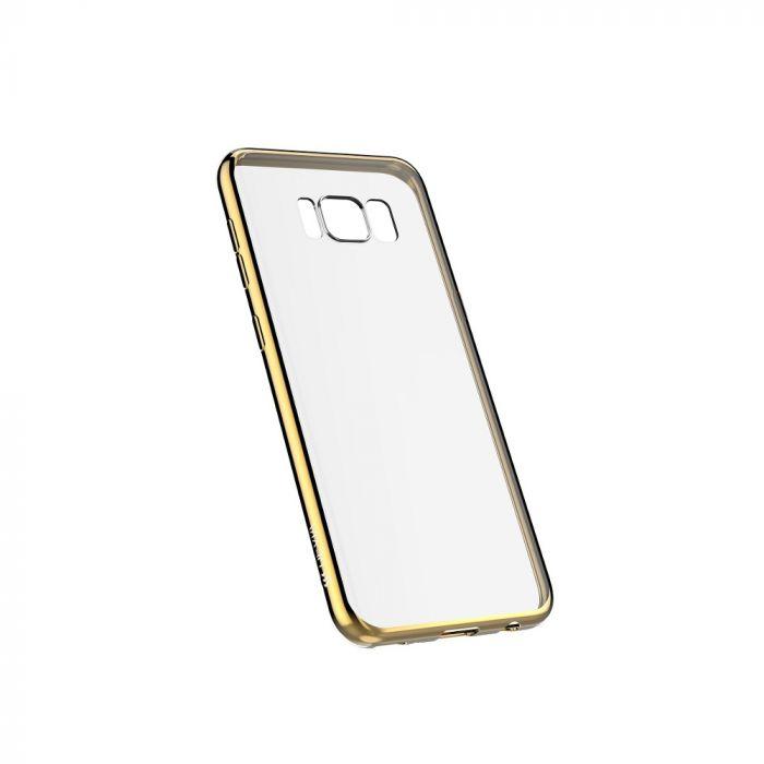Husa Samsung Galaxy S8 Plus G955 Devia Silicon Glitter Soft Champagne Gold (margini electroplacate)
