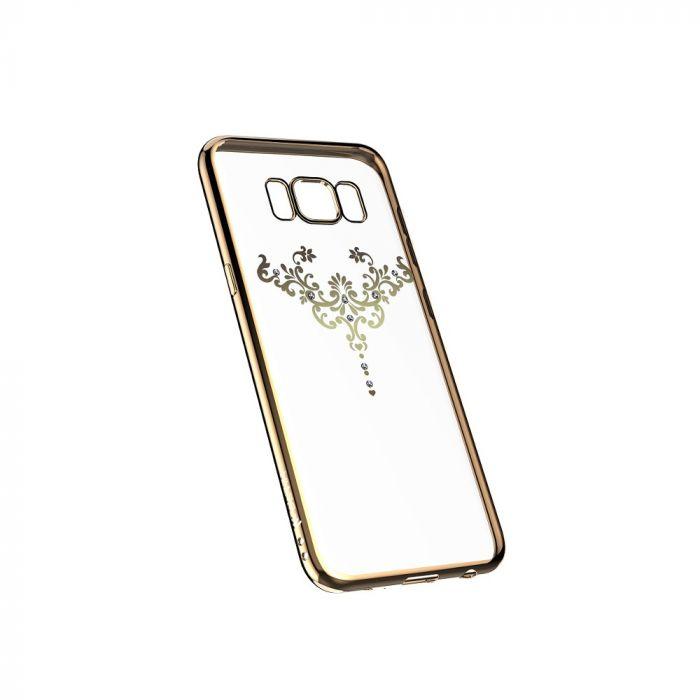 Husa Samsung Galaxy S8 Plus G955 Devia Silicon Iris Champagne Gold (Cristale Swarovski�)