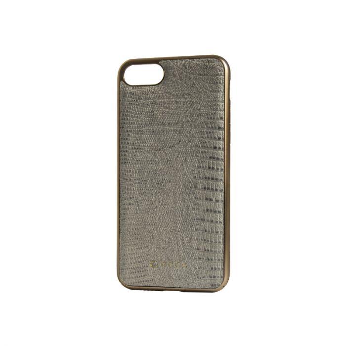 Carcasa iPhone 7 Occa Lizard White (piele naturala, protectie margine 360�)