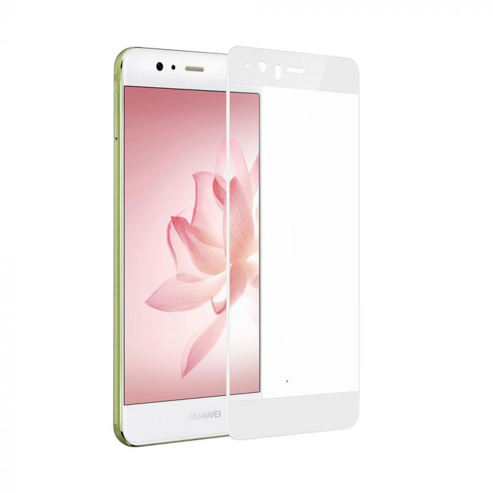 Folie Huawei P10 Lite Devia Frame Sticla Temperata White