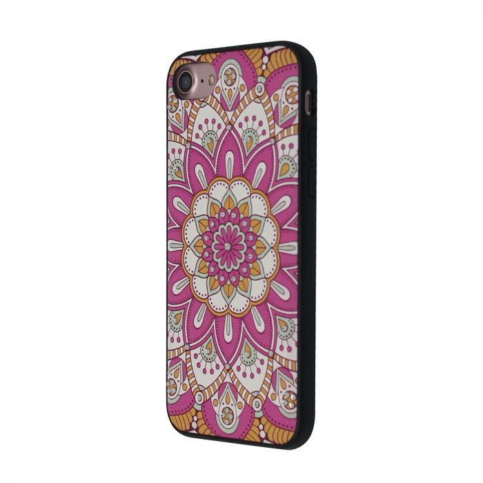 Carcasa iPhone 8 / 7 Occa Artist Pink Mandala (3D print cu cristale)