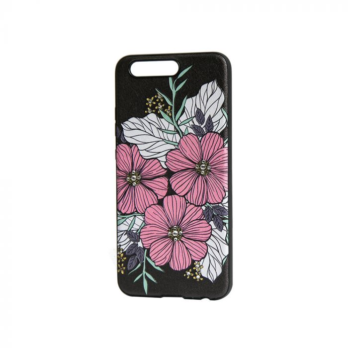 Carcasa Huawei P10 Occa Artist Flower Bloom (3D print cu cristale)
