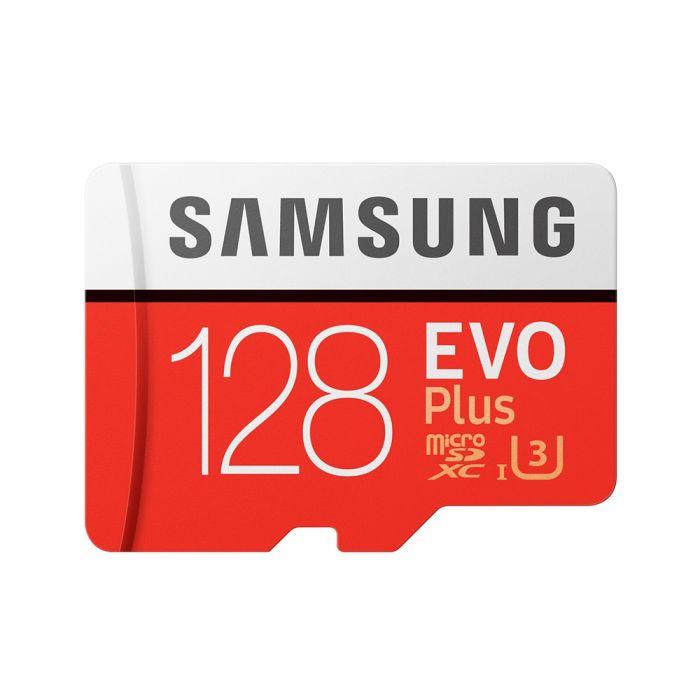 Card Memorie Samsung Evo Plus MicroSDXC 128 GB Clasa 10 UHS-I + Adaptor SD (90MB/s)
